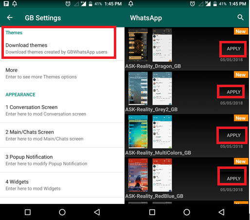 How to change themes on Whatsapp