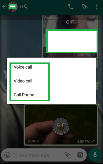 How to use GBWhatsapp Calling option on Whatsapp