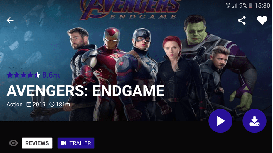 Avengers Endagame On Popcorn Time
