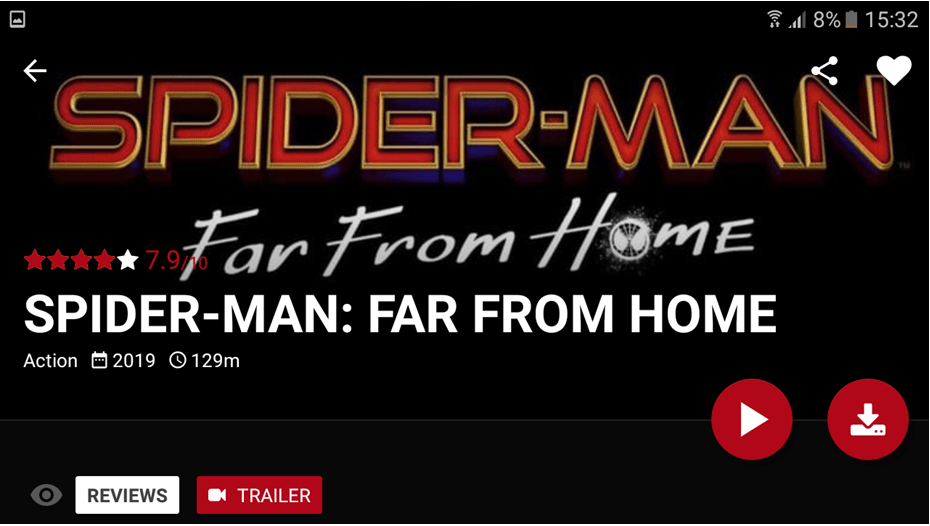 Spider-Man: Far From Home On Popcorn Time