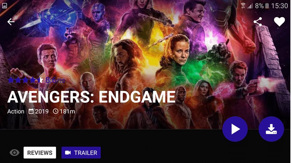 Avengers Endagame On Popcorn Time