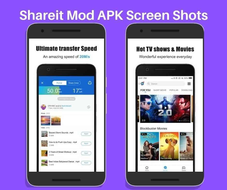 Shareit screen Shots